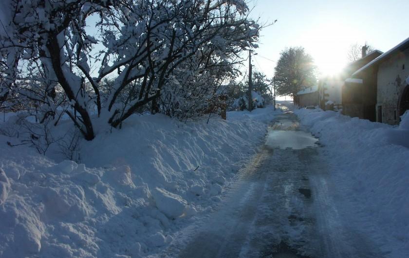 Location de vacances - Gîte à Corcieux - Le Chenel en hiver