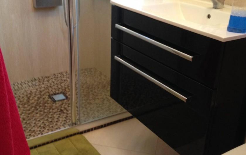 Location de vacances - Appartement à Monaco-Ville - salle d'eau grande douche + Toilettes WC ds le grand appartement