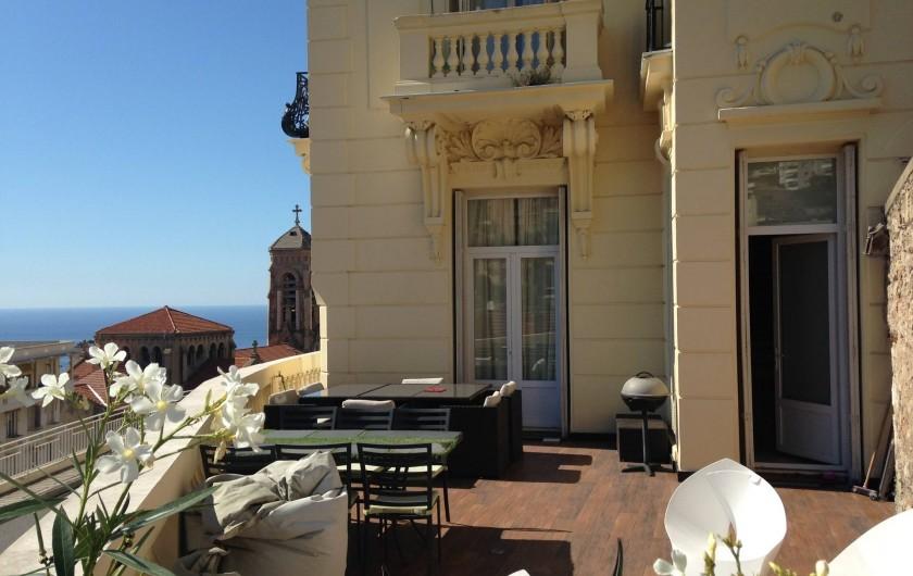 Location de vacances - Appartement à Monaco-Ville - la terrasse du gd appartement