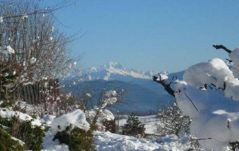 Location de vacances - Chalet à Saint-Hilaire - Vue sur le mont blanc