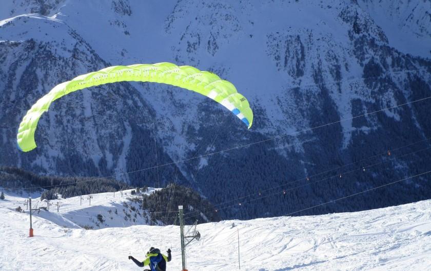 Location de vacances - Appartement à Pralognan-la-Vanoise - Vol en parapente, du Mont Bochoir