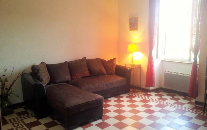 Location de vacances - Gîte à Saint-Alban-Auriolles - salon
