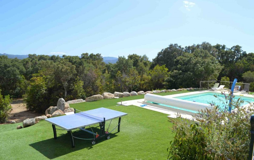 Location de vacances - Villa à Porto-Vecchio - Terrain pelouse synthetique