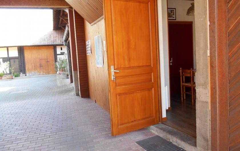 Location de vacances - Gîte à Epfig - Entrée du  studio