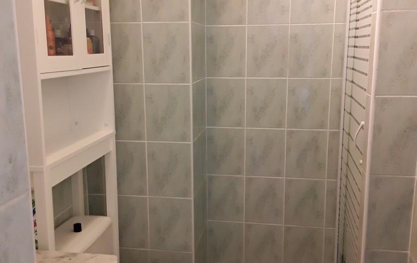 Location de vacances - Appartement à Agde - salle d'eau : douche - lavabo & meubles -WC