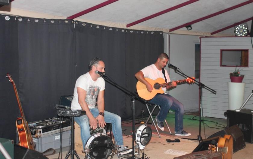 """Location de vacances - Camping à Joyeuse - Soirée """"Génération Goldman """" avec Fabien et Aurélien"""