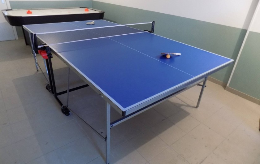 La table de ping pong déployée