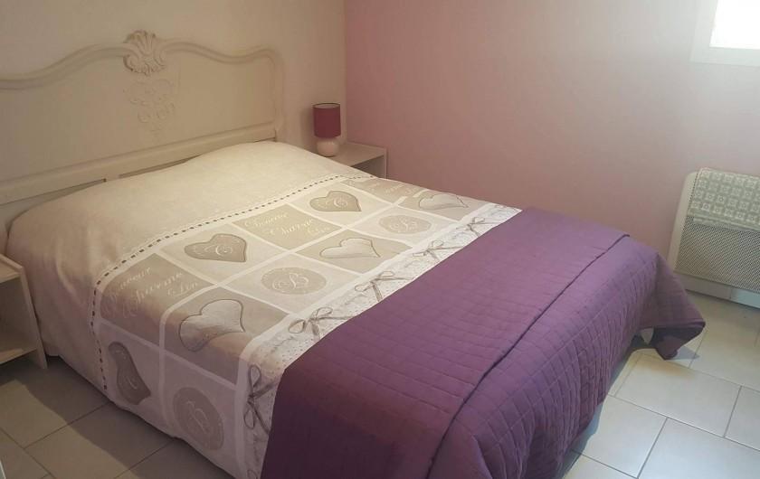 Location de vacances - Gîte à Rieux-en-Val - Chambre avec lit double du gite Carignan