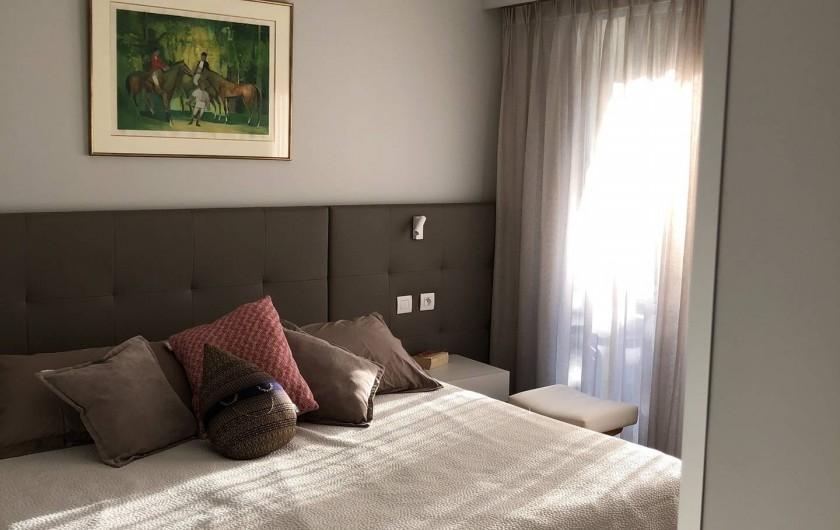 Location de vacances - Appartement à Menton - Chambre principale