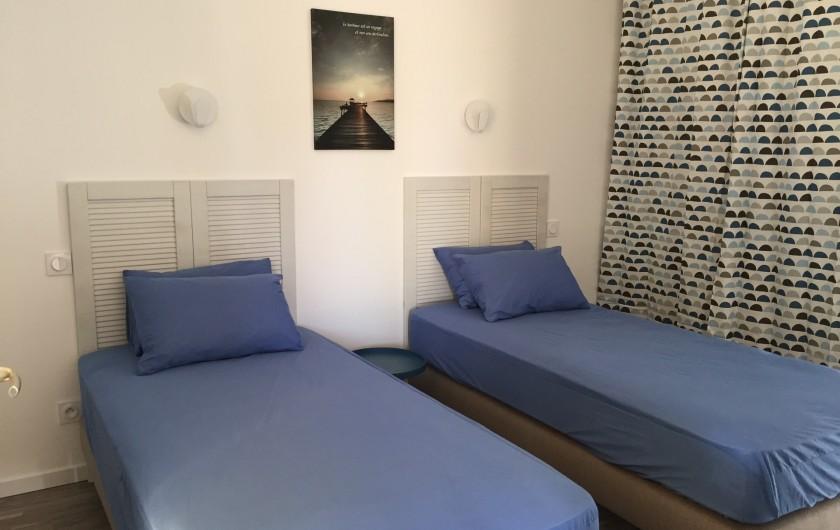 Location de vacances - Appartement à Biscarrosse - Appartement LATECOERE Chambre deux lits simple ou un lit double