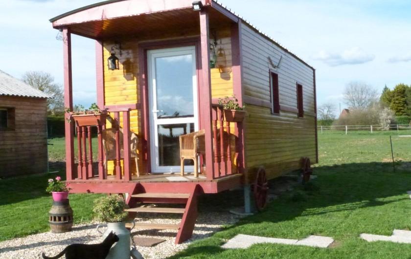Location de vacances - Roulotte à Malleville-sur-le-Bec - Roulotte sur terrain privé
