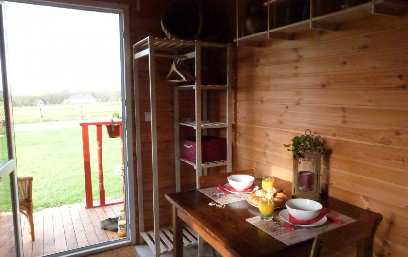Location de vacances - Roulotte à Malleville-sur-le-Bec - Cuisine complète pour 3
