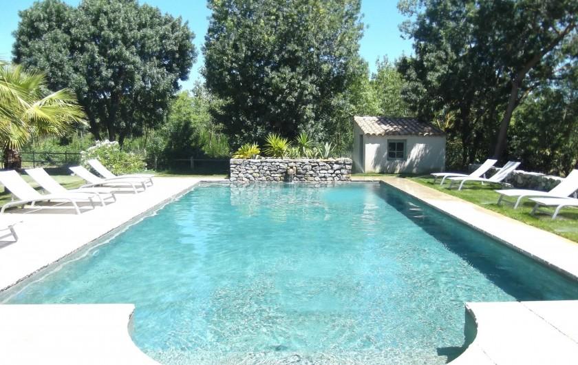 Location de vacances - Mas à Narbonne - Piscine chauffée 12X6