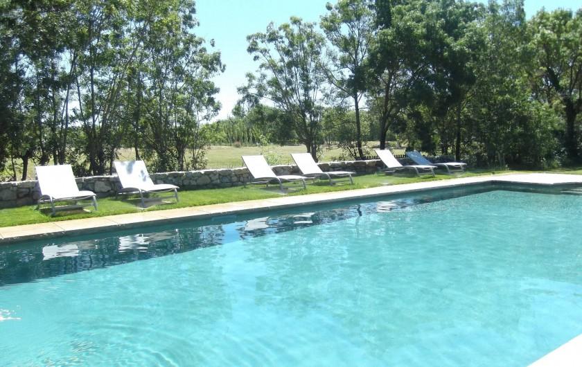 Location de vacances - Mas à Narbonne - Piscine 12X6 chauffée