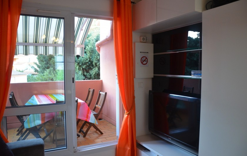 Location de vacances - Appartement à Cerbère - Grand écran LCD