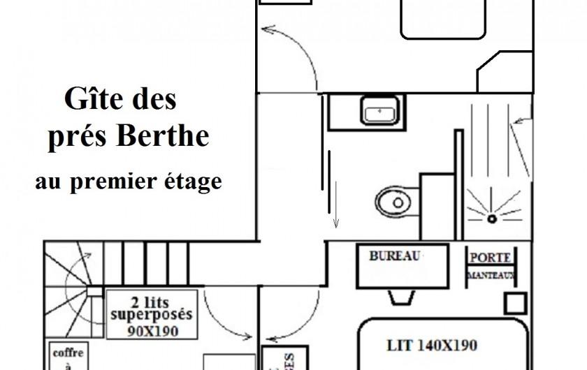Location de vacances - Chalet à Le Clerjus - plan du premier étage