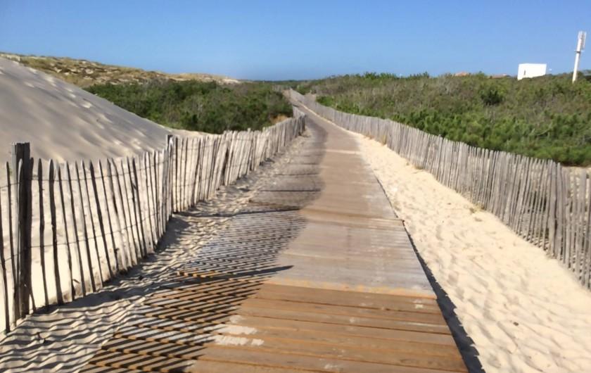 Location de vacances - Villa à Hourtin Plage - Accès plage