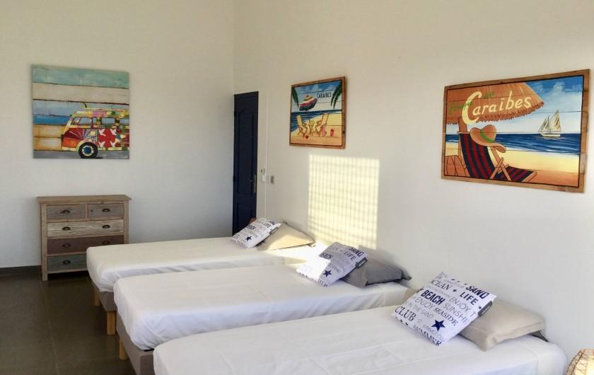Location de vacances - Villa à Sainte-Anne - Chambre 4  3 lit 90 x 200