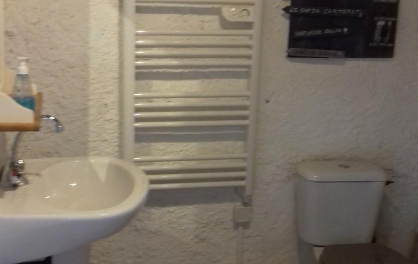 Location de vacances - Gîte à Picauville - Salle de douche  WC  Lavabo Bidet