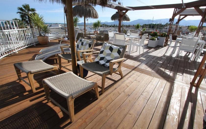 Location de vacances - Appartement à Saint-Cyprien Plage - Toit-terrasse - lieu de vie partage