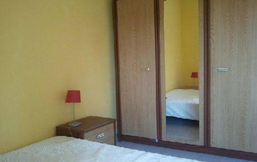 Location de vacances - Villa à Portiragnes - Villa C, chambre du rez-de-chaussée (lit double).
