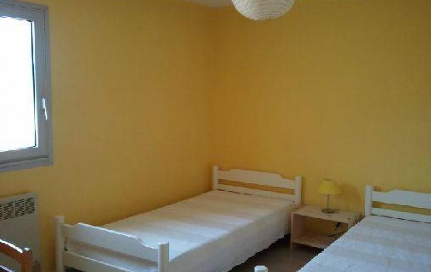 Location de vacances - Villa à Portiragnes - Villa C, chambre deux lits simples au premier étage, côté nord.