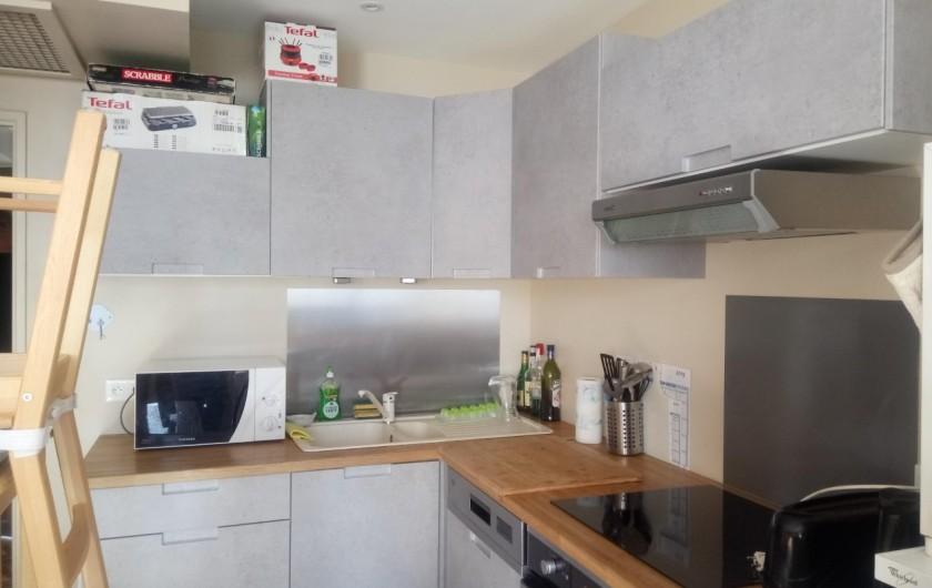 Location de vacances - Appartement à Le Collet d'Allevard - cuisine