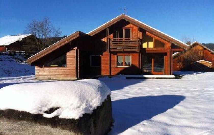 Location de vacances - Chalet à Xonrupt-Longemer - joli chalet sur 1300m2 de terrain