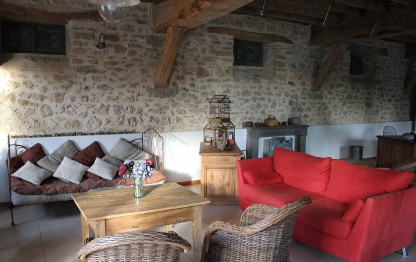 Location de vacances - Gîte à Roussennac - Salon maison d'hôtes
