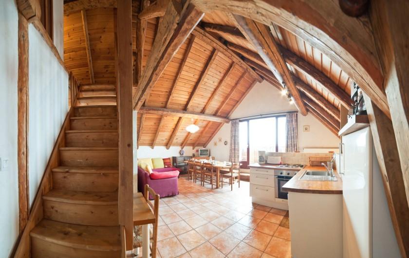 Location de vacances - Appartement à Albiez-le-Vieux - séjour cuisine