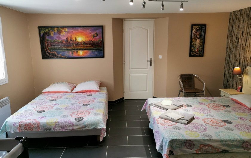 Location de vacances - Villa à Pépieux - CHAMBRE FAMILLIALE
