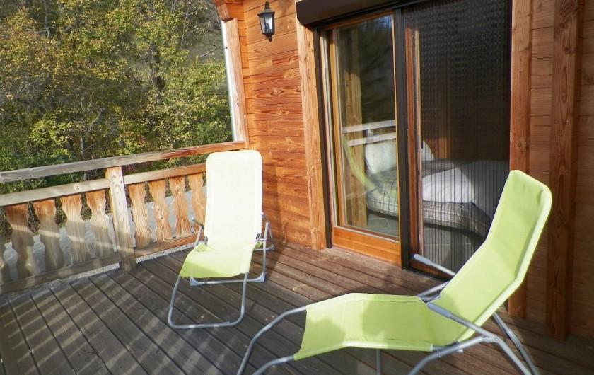 Location de vacances - Chalet à Saint-Jean-Saint-Nicolas - prendre un moment de repos!