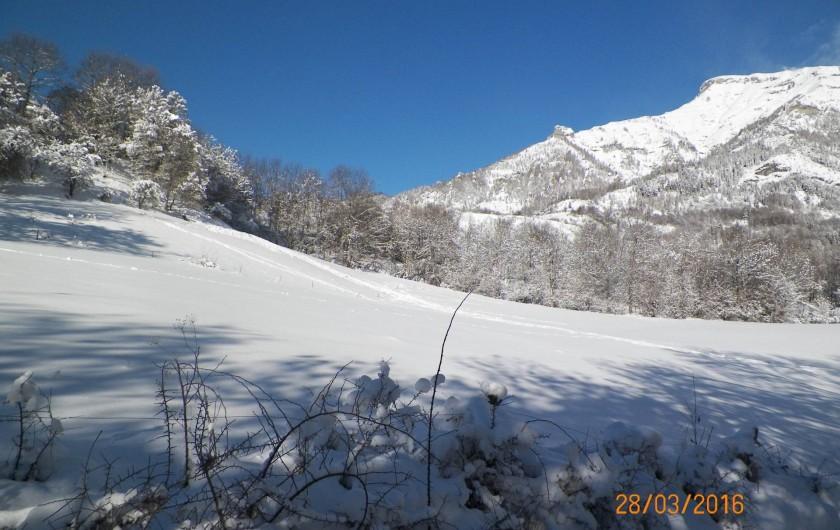 Location de vacances - Chalet à Saint-Jean-Saint-Nicolas - Paysage enneigé