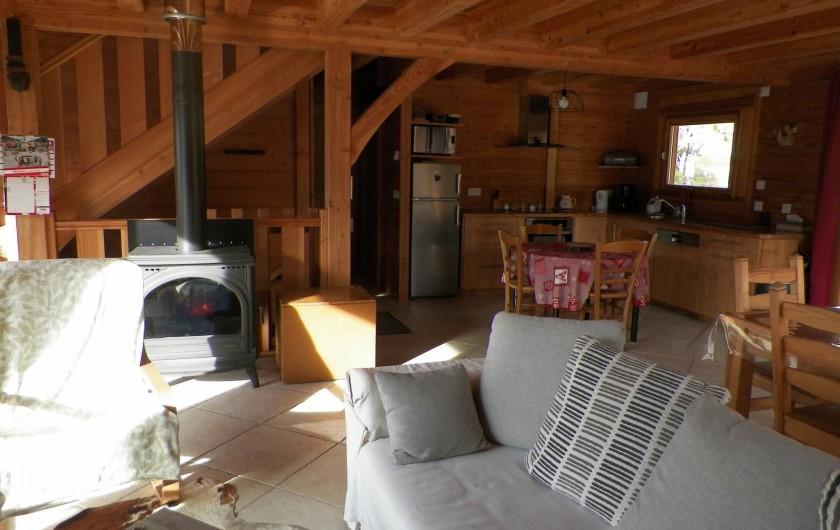 Location de vacances - Chalet à Saint-Jean-Saint-Nicolas - Côté salon