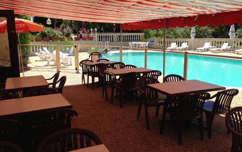 Location de vacances - Bungalow - Mobilhome à Casteil - la terrasse