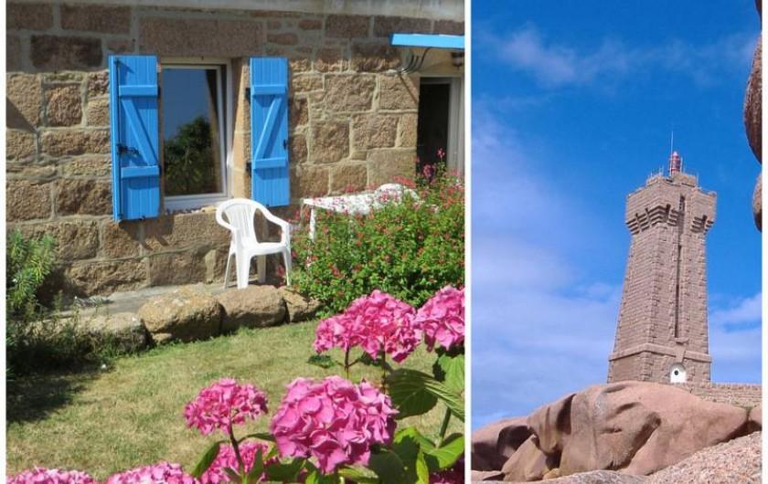 Location de vacances - Gîte à Perros-Guirec - maison de pêcheur  plage et  port à 100m   Ploumanach cotes d armor Bretagne