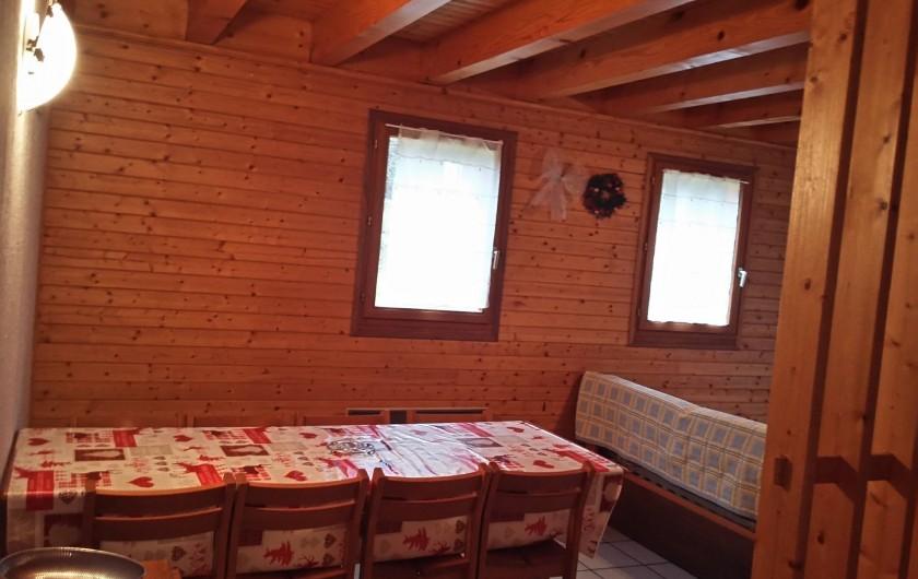 Location de vacances - Chalet à Lescheraines - salle à manger