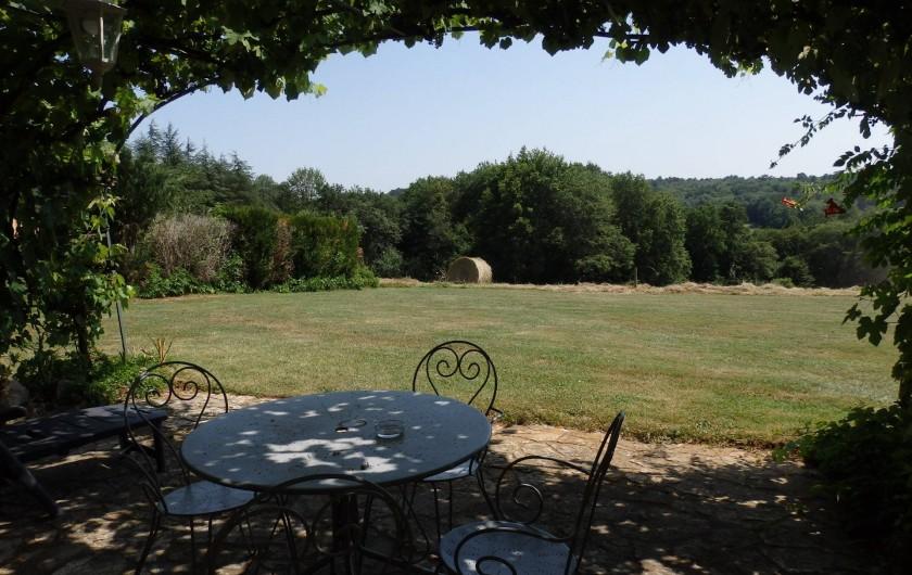 Location de vacances - Gîte à Bouillac - Vue de la terrasse de la Vigne