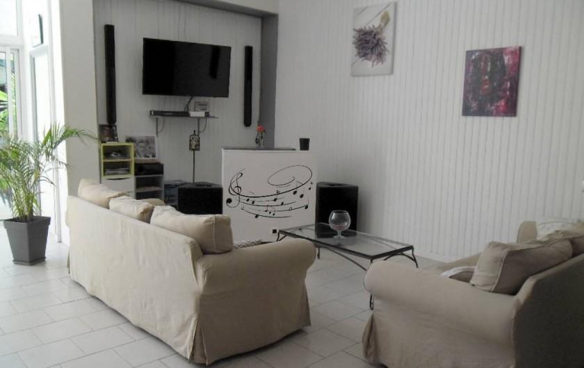 Location de vacances - Appartement à Autignac - Coin salon salle de réception