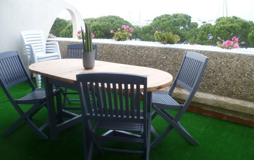 Location de vacances - Appartement à Le Grau-du-Roi - terrasse 12 mètres
