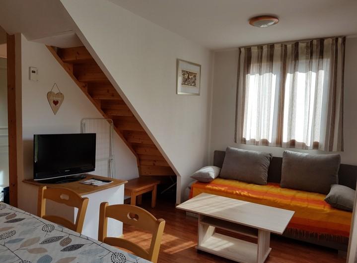 Location de vacances - Chalet à Le Dévoluy - Salon avec canapé convertible 2 places