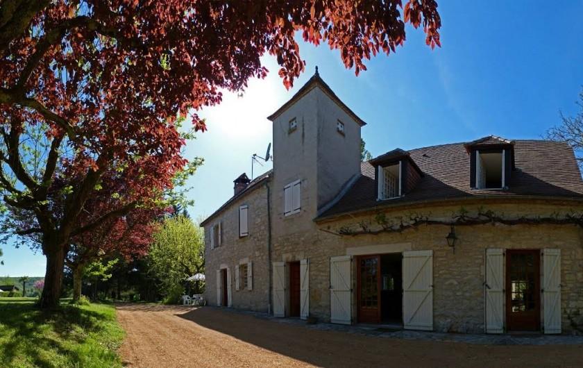 Location de vacances - Maison - Villa à Lacave - Panoramique des 2 maisons - (2013)