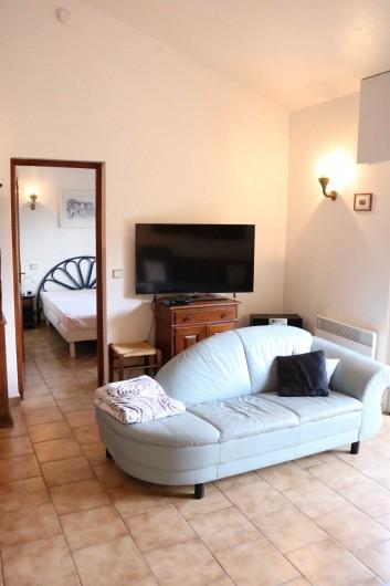 Location de vacances - Villa à Sainte-Maxime - Coin TV / radio