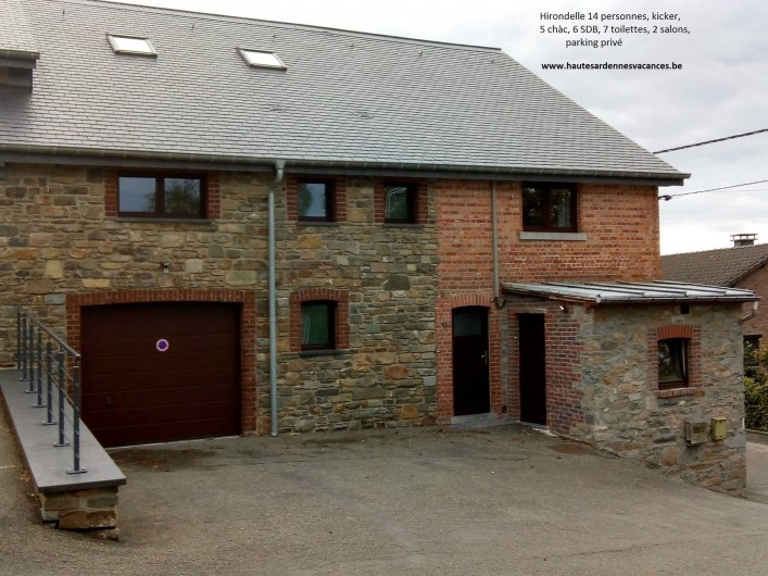Location de vacances - Gîte à Stavelot - Hirondelle 14 personnes