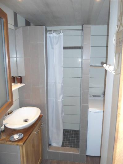 Location de vacances - Chalet à Osenbach - Salle de douche avec toilette et machine a laver le linge