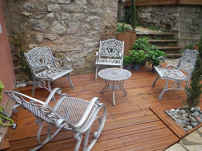 Location de vacances - Gîte à Lagrasse - Salon de jardin