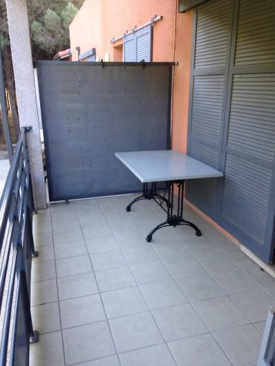 Location de vacances - Appartement à Alénya - Terrasse 10M2, sans vis à vis ,  avec table et 4 chaises