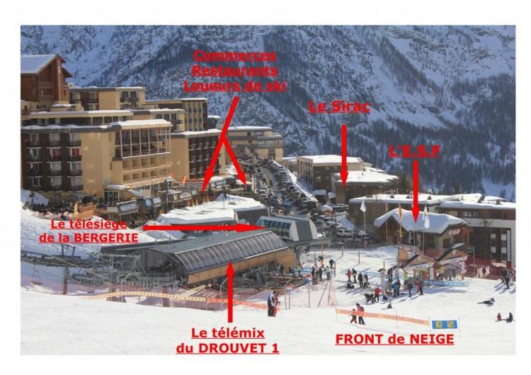 Location de vacances - Appartement à Orcières Merlette - Situation