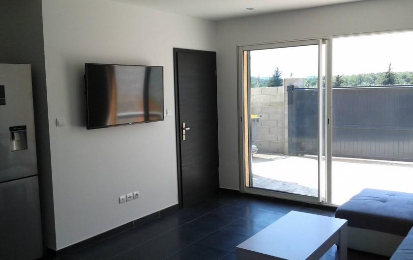 Location de vacances - Appartement à Le Crès - entrée du salon