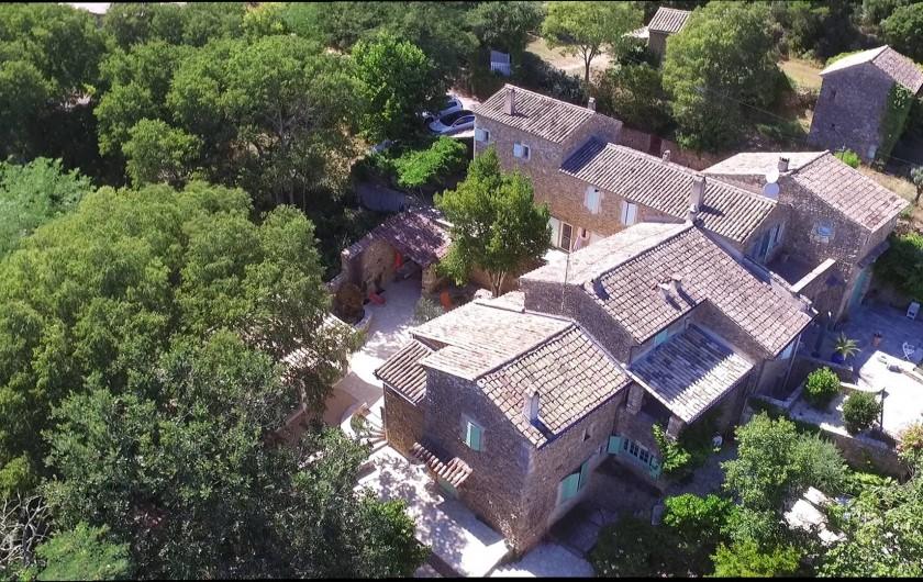 Location de vacances - Mas à Goudargues - Le Mas Toupian - dans les collines